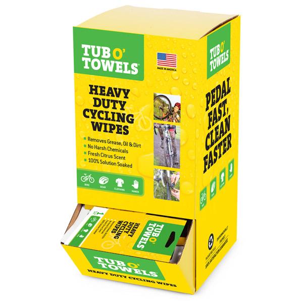 Heavy Duty Cycling Wipes Tub O Towels Cycling Wipes